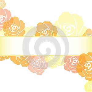 Yellow Roses Frame Background Stock Photography - Image: 25808552