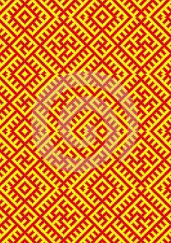CrossStitch-kolovrat-slavic-pattern Stock Images - Image: 25817244