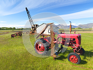 Picture Of A Tractor And Abandoned Machines Royalty Free Stock Photo - Image: 25827115