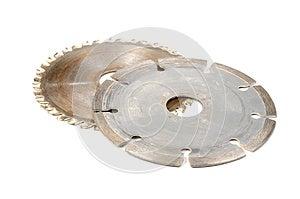 Used Circular Saw Blades Royalty Free Stock Image - Image: 25841806
