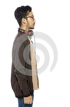 Young Man Listening Music Stock Photos - Image: 25842183