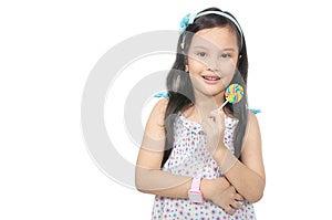 Girl Eating Lollipop Royalty Free Stock Photos - Image: 25842188