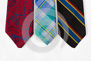 Neckties On White Cloth Stock Photography - Image: 25845862
