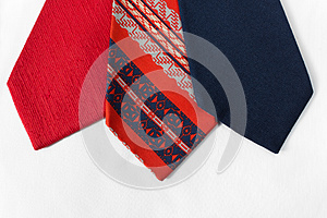 Neckties On White Cloth Royalty Free Stock Images - Image: 25845879