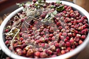 Basket With Wild Strawberries Stock Image - Image: 25846361