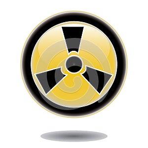 Sticker Radiation Hazard Symbol Royalty Free Stock Images - Image: 25850239