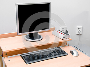 Computer Workplace Stock Photo - Image: 25852300