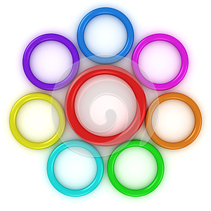 Rainbow Rings Stock Images - Image: 25852334