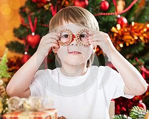 Boy Having Fun In Christmas Stock Photos - Image: 25860963