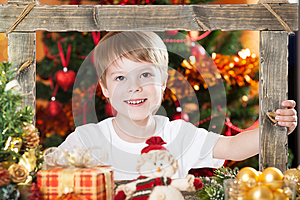 Happy Boy Looking Into Frame Stock Images - Image: 25861004