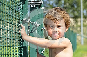 A Boy Try To Escaping Royalty Free Stock Photos - Image: 25861868