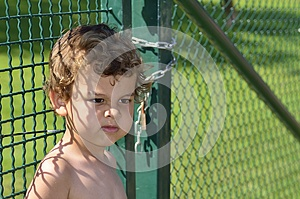 A Boy Try To Escaping Royalty Free Stock Images - Image: 25861939