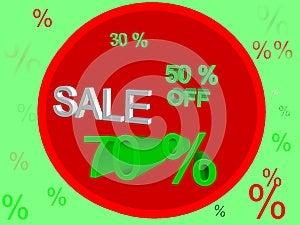 Sale 70% Royalty Free Stock Photos - Image: 25867618