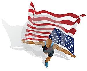 American Race Winner Royalty Free Stock Photo - Image: 25869325