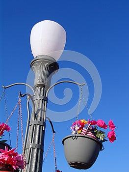 Concrete Retro Lamp Post Stock Photography - Image: 25870402