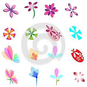 Flower Elements Design Royalty Free Stock Image - Image: 25877806