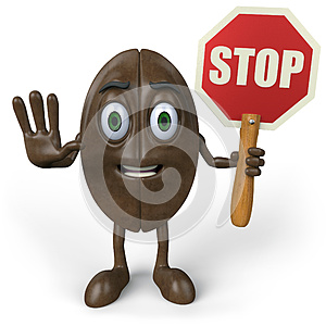 Coffee With Stop Sign Stock Image - Image: 25881851