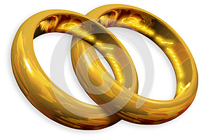 Wedding Rings Royalty Free Stock Photos - Image: 25882588
