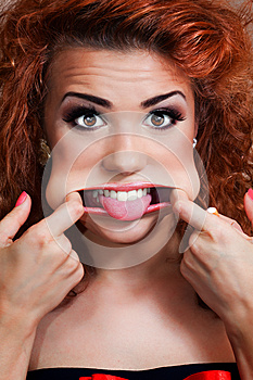 Pretty Girl Making Faces Royalty Free Stock Photos - Image: 25882678