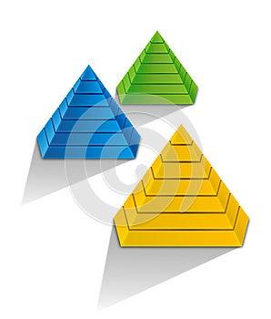 3d Pyramid Stock Photos - Image: 25886313