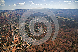 Highway 89a And Sedona Stock Photo - Image: 25891360