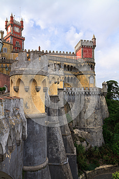 The Pena Palace In Sintra Near Lisbon Stock Photography - Image: 25894072