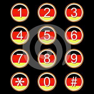 Немец нумерует иконы Стоковое Фото - изображение: 25894600