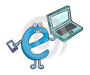 E For Electronics Stock Photography - Image: 25896532