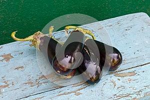 Fresh Aubergines (eggplants) Stock Images - Image: 25898614