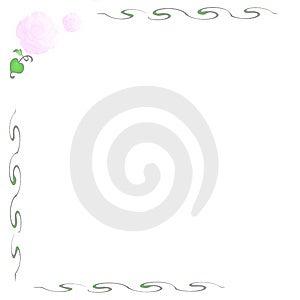 Rosarosenanmerkung Stockfotos - Bild: 2591213