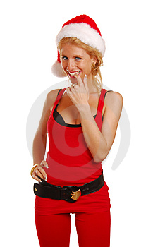 Santa Lady Royalty Free Stock Images - Image: 2593289