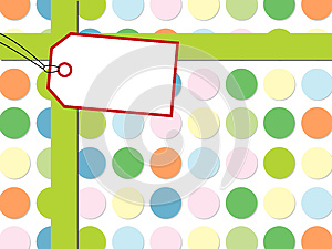 Dot Pattern With Gift Box Stock Images - Image: 25904514