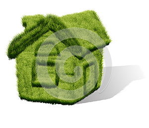Green Grass House Stock Photo - Image: 25910200