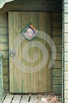 Child Looking Through The Window Royalty Free Stock Images - Image: 25914739