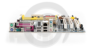 Connectors On The Motherboard Royalty Free Stock Images - Image: 25914909