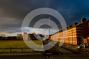 Row Of Houses In A Street Of Manchester Royalty Free Stock Photography - Image: 25917507