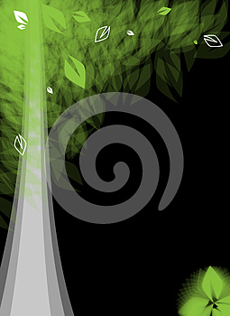 Futuristic Stylized Tree With Leafage Royalty Free Stock Photography - Image: 25920187
