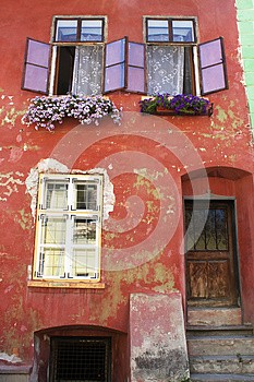 Medieval House In Sighisoara, Romania Stock Photography - Image: 25920392