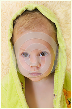 The Child After Bathing Stock Photography - Image: 25927872