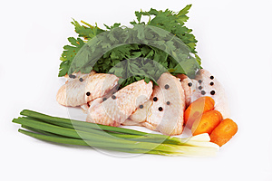 Raw Wings Stock Images - Image: 25928134