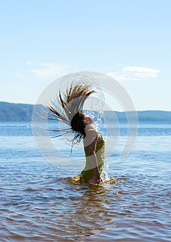 Playing With Water Royalty Free Stock Images - Image: 25931589