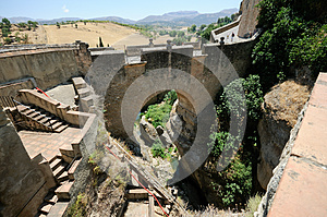 Roman Bridge In Ronda In Malaga, Andalusia, Spain Stock Photography - Image: 25937982