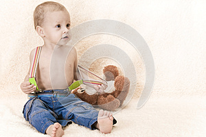 Child And Toy Stock Images - Image: 25941364