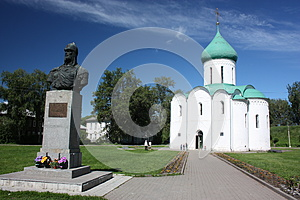 Savior Transfiguration Cathedral And The Monument Royalty Free Stock Images - Image: 25943909