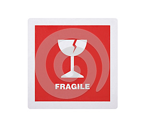 Fragile Sticker With Clipping Path Stock Photo - Image: 25947170