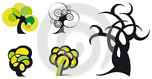 Vector Trees Stock Photo - Image: 25953310