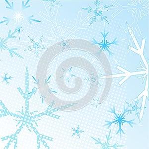 Winter Snowflakes Background Stock Image - Image: 25963331