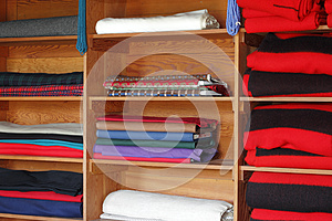Textiles On Shelves Stock Photography - Image: 25971952