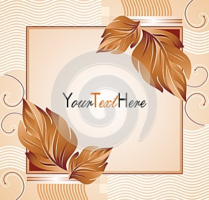 Vector Banner With Leafs Stock Photo - Image: 25979640