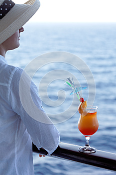 Woman With A Cocktail Royalty Free Stock Photography - Image: 25985567
